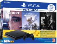 Sony Playstation 4 Slim 1Tb + 3 игры + подписка PlayStation Plus 90 дней