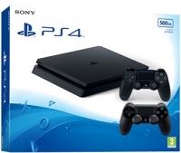 Sony Playstation 4 Slim 500Gb с двумя джойстиками