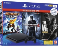 Sony Playstation 4 Slim 1Tb + 3 игры + подписка PlayStation Plus