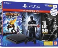 Sony Playstation 4 Slim 1Tb + 3 игры
